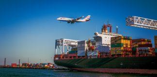 trade, airplane, aircraft, cargo, ship, delivery, transport, container, logistics