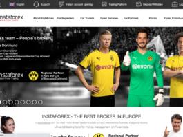 InstaForex homepage