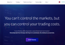 Fusion Markets homepage