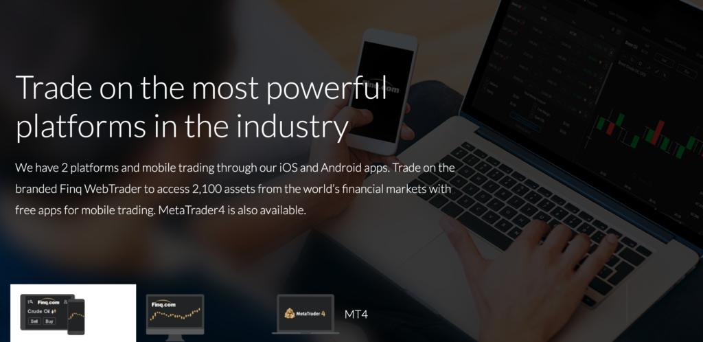 Finq.com trading platforms