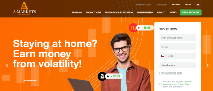 AMarkets homepage
