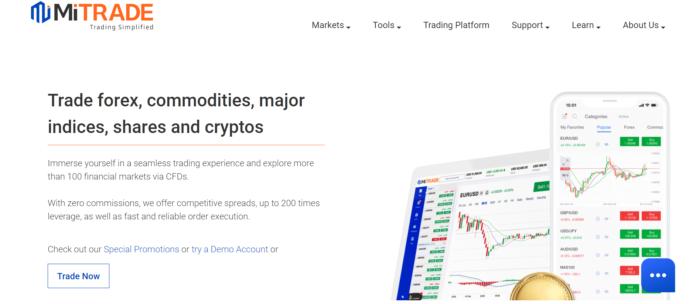 MiTrade Homepage