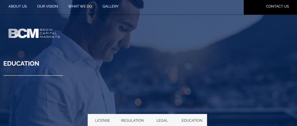 BCM Begin Capital Markets - website