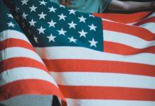 USA, flag, stocks