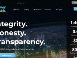 ox securities homepage